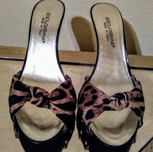 Dolce & Gabbana Animal Print Sandals